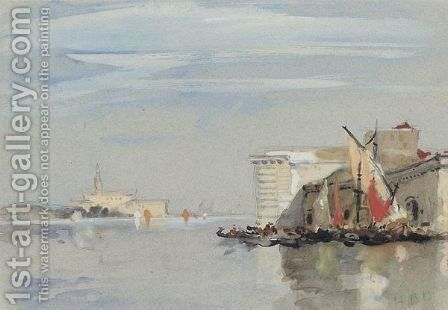 Guidecca Canal, Venice by Hercules Brabazon Brabazon - Reproduction Oil Painting