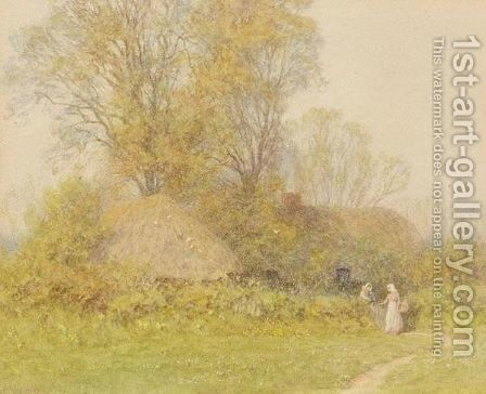 Spring Morning by Helen Mary Elizabeth Allingham, R.W.S. - Reproduction Oil Painting
