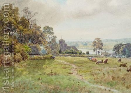 Old Shoreham Church by Elliot Henry Marten - Reproduction Oil Painting