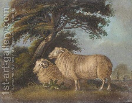 Two Sheep by Benjamin Zobel - Reproduction Oil Painting