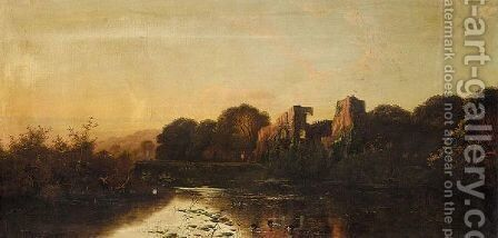 Calm Evening On The Trent by Edwin Henry Boddington - Reproduction Oil Painting
