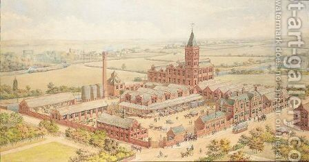 Kilvert and Sons Lard Refiners, Trafford Park, Manchester by English School - Reproduction Oil Painting