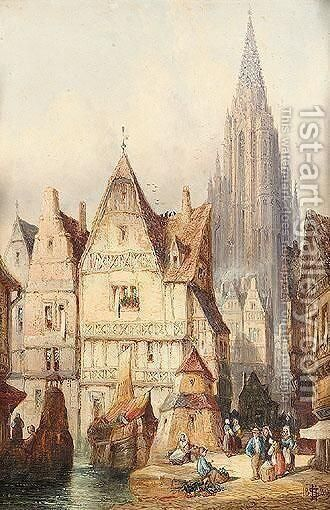 Ulm, Germany by Henry Thomas Schafer - Reproduction Oil Painting