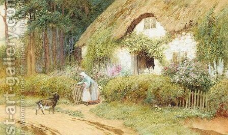 Cottage Garden In Summer by Arthur Claude Strachan - Reproduction Oil Painting