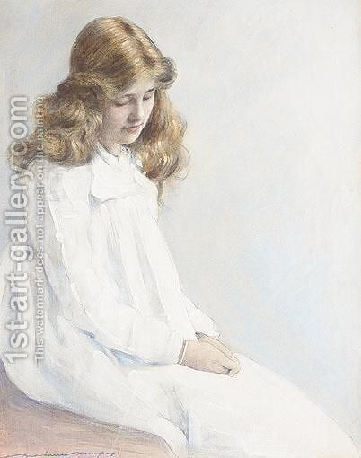 Portrait Of A Girl by Mortimer Ludington Menpes - Reproduction Oil Painting