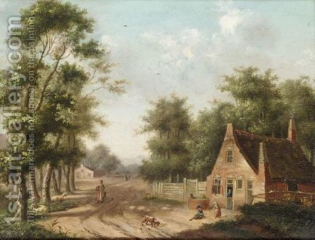 Country Lane by Dutch School - Reproduction Oil Painting