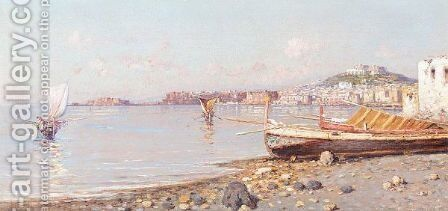 The Bay Of Naples by (after) Giuseppe Carelli - Reproduction Oil Painting