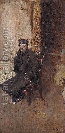 The Artist In His Studio by Jean-Georges Beraud - Reproduction Oil Painting