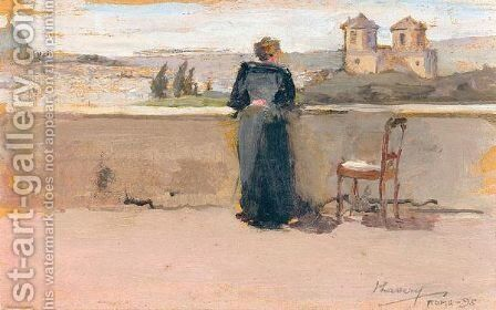 On The Banks Of The Tiber by Sir John Lavery - Reproduction Oil Painting