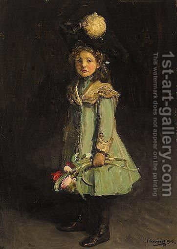 Portrait Of The Honorable Diana Janet Darling by Sir John Lavery - Reproduction Oil Painting