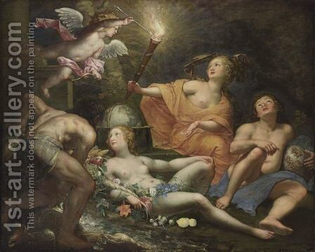 An Allegory Of The Four Elements by Jan van Dalen - Reproduction Oil Painting