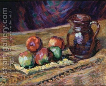 Nature Morte Et Pommes by Armand Guillaumin - Reproduction Oil Painting