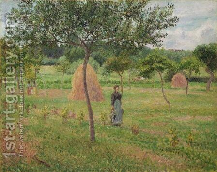 Meules De Foin Dans Le Pre, Eragny by Camille Pissarro - Reproduction Oil Painting