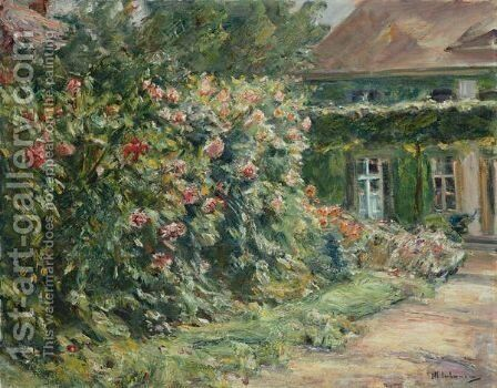 Mein Haus In Wannsee, Mit Garten by Max Liebermann - Reproduction Oil Painting