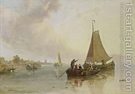 The Boat Trip by Christiaan Cornelis Kannemans - Reproduction Oil Painting
