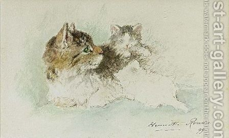 A Proud Mother 3 by Henriette Ronner-Knip - Reproduction Oil Painting