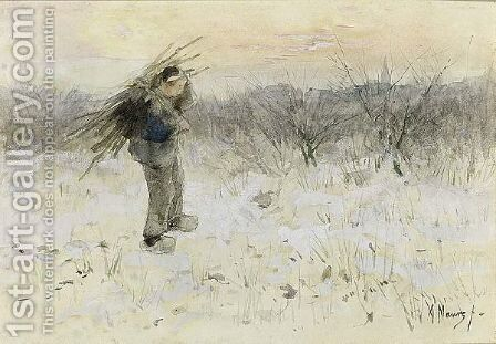 The Young Wood Gatherer by Anton Mauve - Reproduction Oil Painting