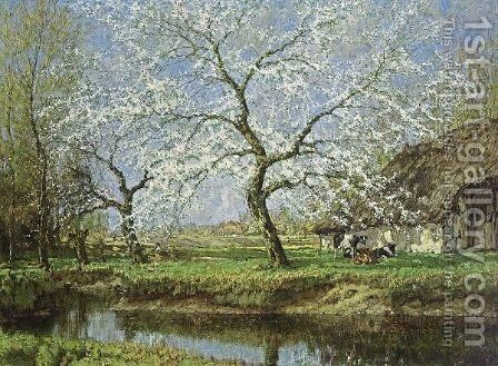 Spring Blossoms by Arnold Marc Gorter - Reproduction Oil Painting