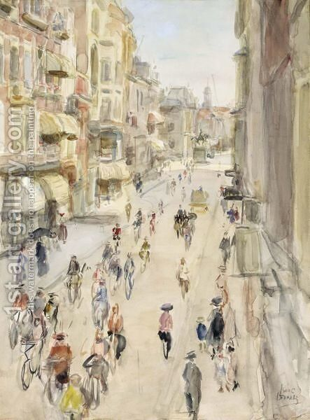 A View Of The Noordeinde, The Hague by Isaac Israels - Reproduction Oil Painting