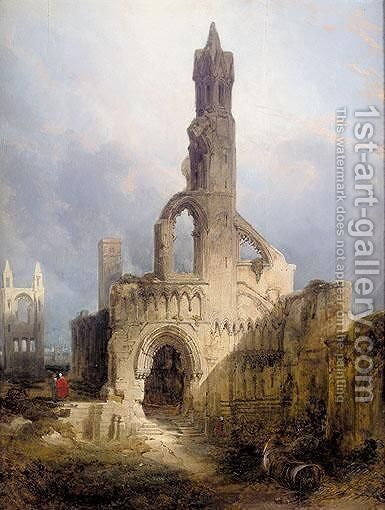 The Ruins Of St Andrews Cathedral by David Roberts - Reproduction Oil Painting