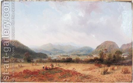 At Ballater Water by Carlo Bossoli - Reproduction Oil Painting