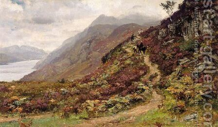 Path To Ben Lomond by David Farquharson - Reproduction Oil Painting