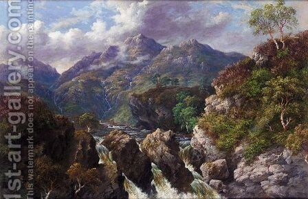 The Waterfall by Mcneil Mcleay - Reproduction Oil Painting