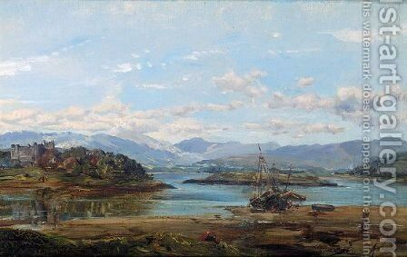 Fishing Boats On A Loch by Alexander Jnr. Fraser - Reproduction Oil Painting