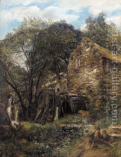 An Old Watermill, North Wales by Alexander Jnr. Fraser - Reproduction Oil Painting