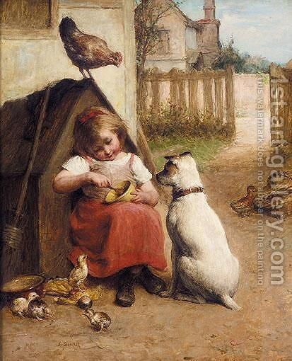 Waiting In Anticipation by Alexander Hohenlohe Burr - Reproduction Oil Painting