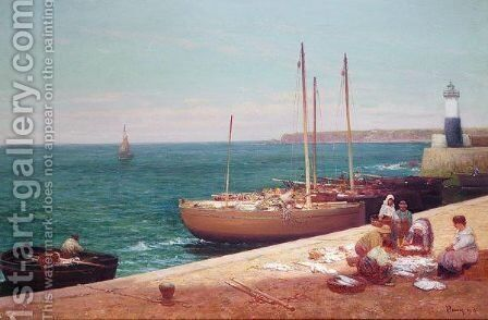 Pittenweem, Fife by Alexander Young - Reproduction Oil Painting