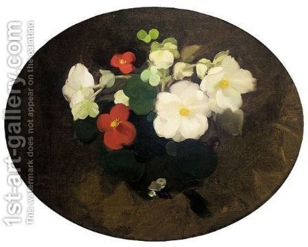 Still Life With Camelias by James Stuart Park - Reproduction Oil Painting