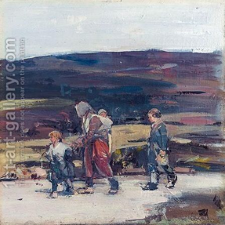 Travellers On The Moor by Hugh Munro - Reproduction Oil Painting