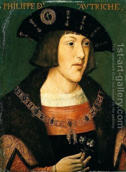 Portrait Of The Emperor Charles V by (after) Orley, Bernard van - Reproduction Oil Painting