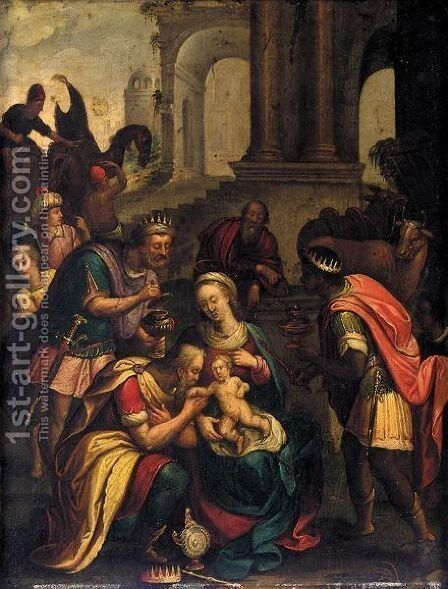 The Adoration Of The Magi 2 by (after) Denys Calvaert - Reproduction Oil Painting
