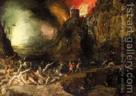 Hell Scene, With Devils Tormenting The Souls Of The Damned by (after) Jan The Elder Brueghel - Reproduction Oil Painting