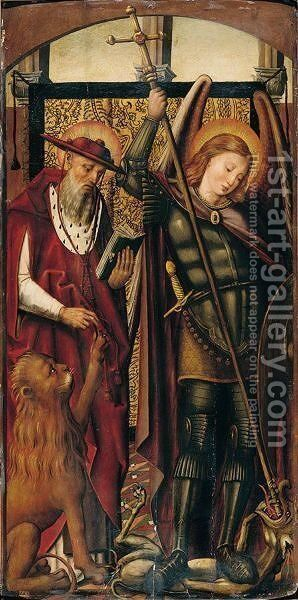 Saint Jerome And Saint George by (after) Pedro Berruguete - Reproduction Oil Painting