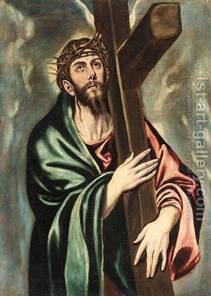 Christ Carrying The Cross by (after) El Greco (Domenikos Theotokopoulos) - Reproduction Oil Painting