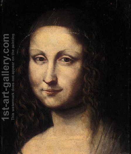 The Head Of The Mona Lisa by (after) Leonardo Da Vinci - Reproduction Oil Painting
