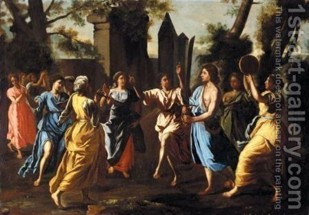 The Triumph Of David by (after) Francesco Cozza - Reproduction Oil Painting