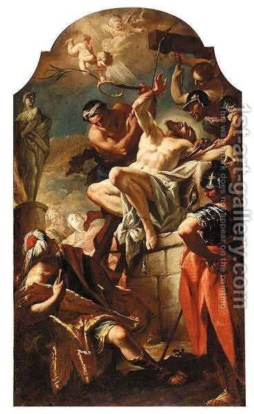 The Martyrdom Of Saint Bartholomew by (after) Giambattista Pittoni - Reproduction Oil Painting