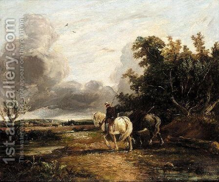 Heading Home by (after) Constable, John - Reproduction Oil Painting