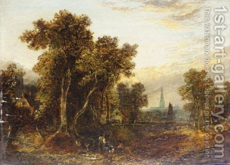 Landscape by (after) Thomas Creswick - Reproduction Oil Painting