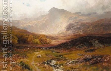 Landscape In Wales by James Henry Crossland - Reproduction Oil Painting