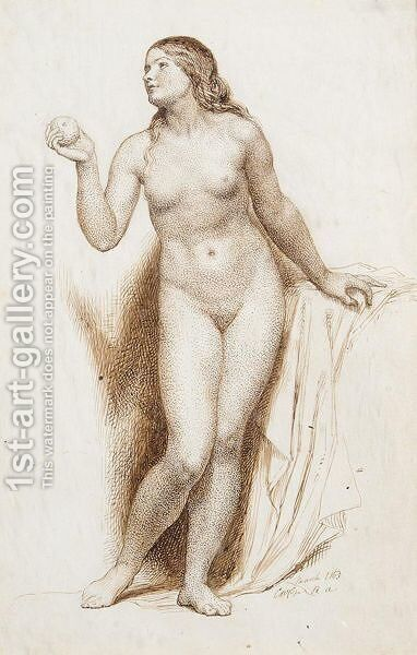 Nude by Charles West Cope - Reproduction Oil Painting