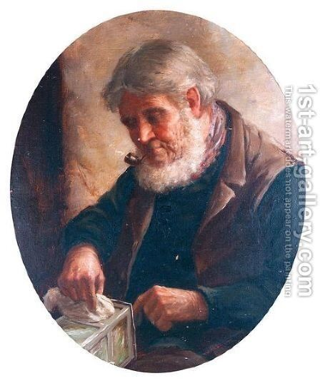 Fisherman by David W. Haddon - Reproduction Oil Painting