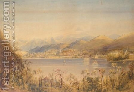 A Scene In The Island Of Ceylon by Andrew Nicholl - Reproduction Oil Painting