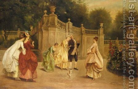 Afternoon In The Park by English School - Reproduction Oil Painting