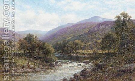 Pont Y Gyfing, Capel Curig, North Wales by Alfred Glendening - Reproduction Oil Painting