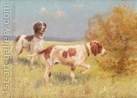 Two Pointers by Continental School - Reproduction Oil Painting